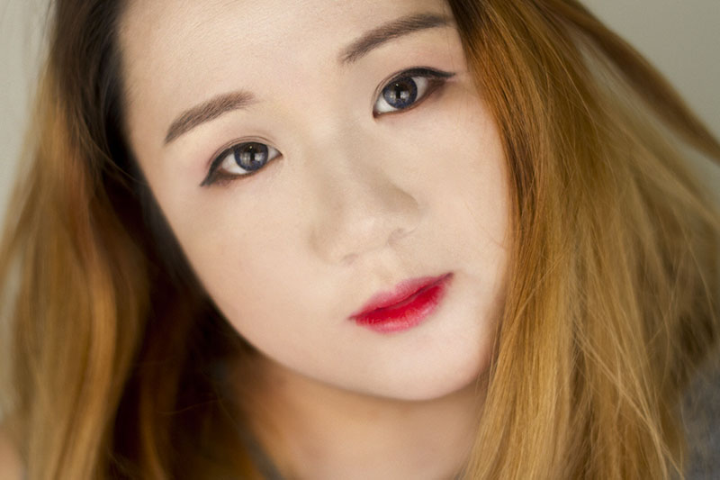 Bunny 3color blue Klenspop Kbeauty Lens Review