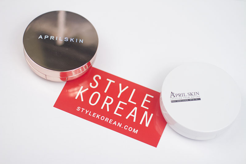 StyleKorean Kbeauty Review Aprilskin BB Cushion Pink Purple White Magic Snow