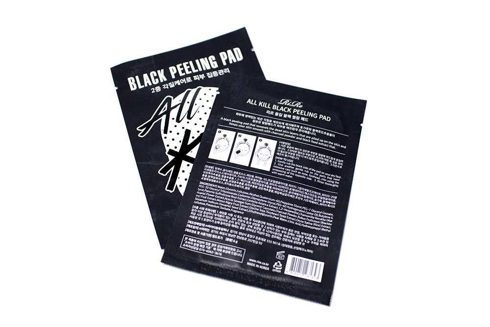 BB Cosmetic Rire All Kill Black Peeling Pad Kbeauty Review