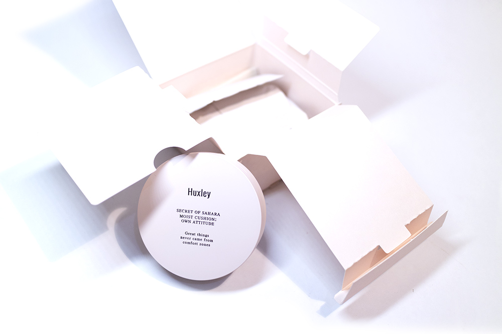 Huxley Secret of Sahara Moist Cushion Kbeauty Review StyleKorean