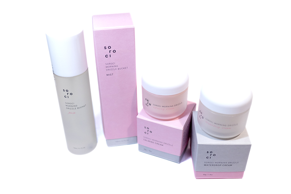Sorochi Morning Drizzle Mist Calming and Waterdrop Cream Kbeauty Review Style Story Australia