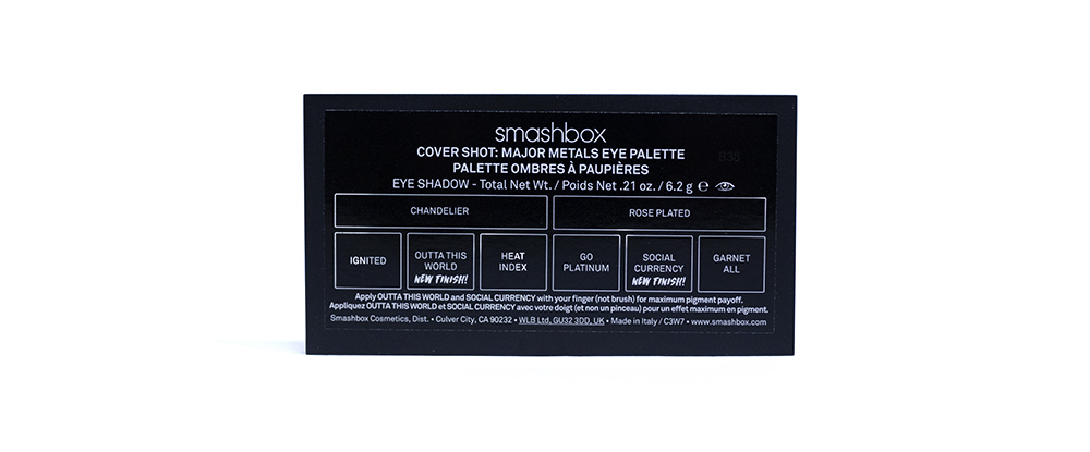 Smashbox Covershot Eye Palette and Primer Review Mecca Major Metals Eye Palette