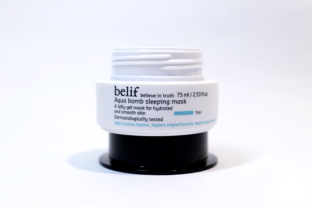 BONIIK Kbeauty Review Belif Aqua Bomb Sleeping Mask