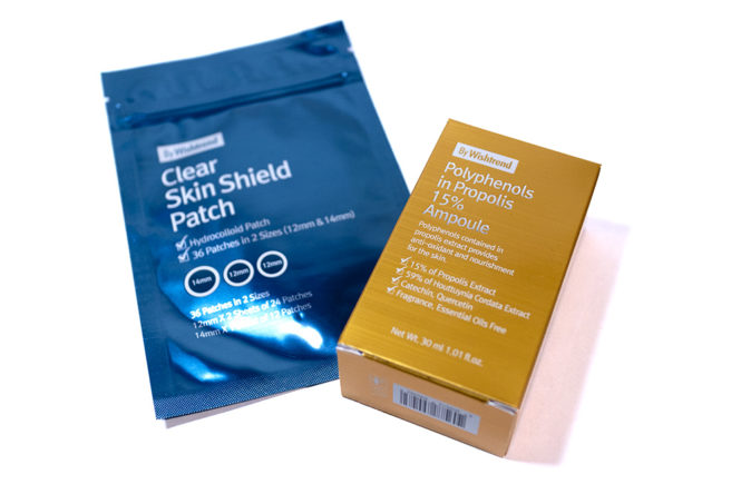 By Wishtrend Kbeauty Review Clear Skin Shield Patch and Polyphenols in Propolis 10% Ampoule