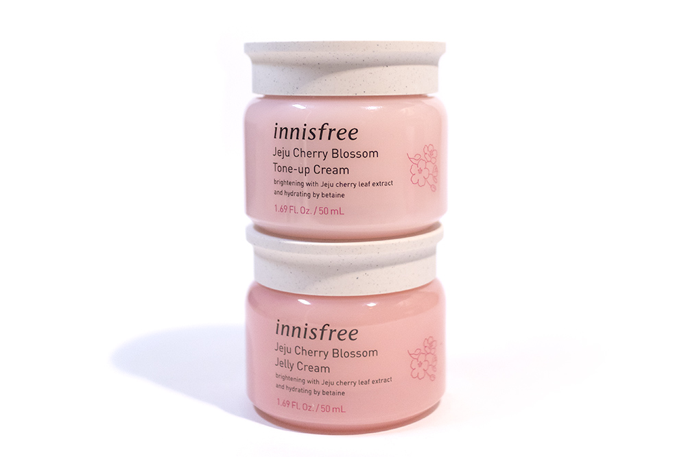 Innisfree Jeju Cherry Blossom Tone Up and Jelly Cream Kbeauty Review