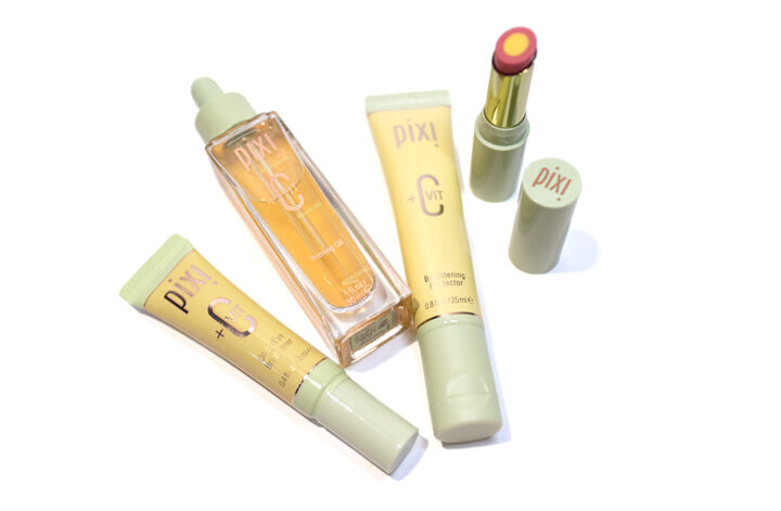 Pixi +C Vit Collection - Under Eye Brightener, Priming Oil, Brightening Perfector and Lip Brightener