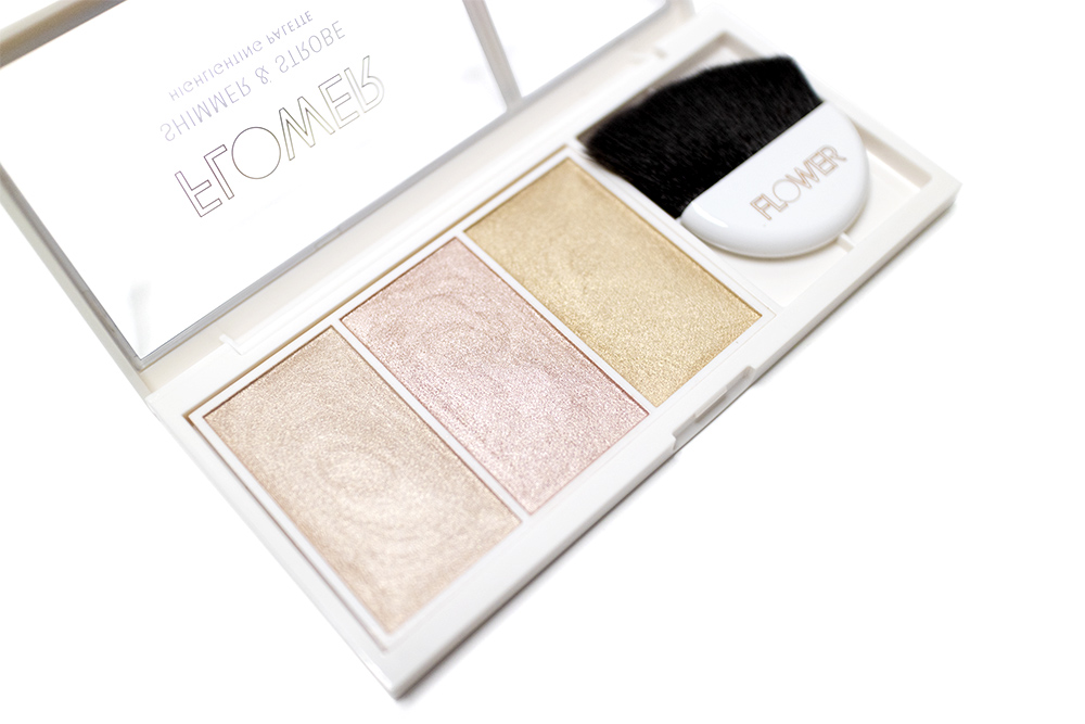 Flower Beauty Shimmer & Strobe Highlighting Palette Review